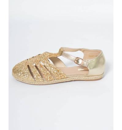 Sandale à paillettes Dorées