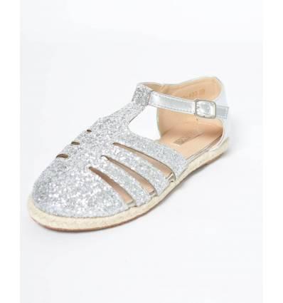 Sandale à paillettes Argent