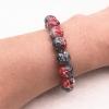 Bracelet style marbre noir et cerise