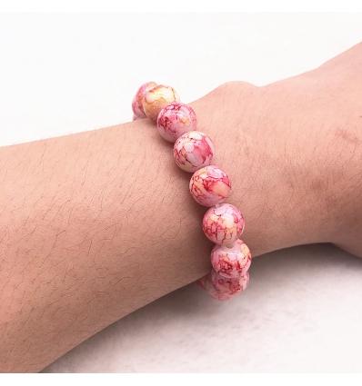 Bracelet style marbre rose