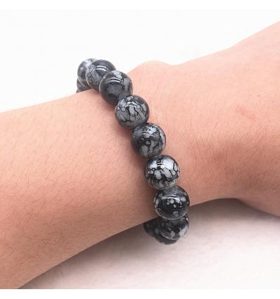Bracelet style marbre noir et gris