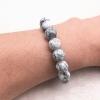 Bracelet style marbre - gris clair