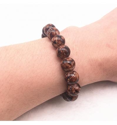 Bracelet style marbre - marron