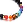 Bracelet pierre de lave - noir et multicolors