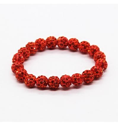 Bracelet style Shambala - rouge rubis