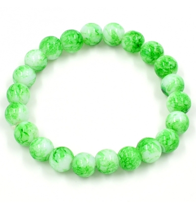 Bracelet Pierre d'Améthyste - vert pomme