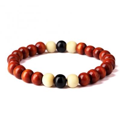 Bracelet bois de Santal - bordeaux