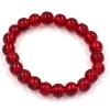 Bracelet pierre de cristal - rouge