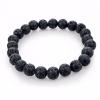 Bracelet pierre de lave - noir
