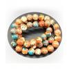 Perles Tataouine - bleu orangé - Bracelet sur mesure
