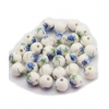 Perles Sydney - bleu et blanc - Bracelet sur mesure