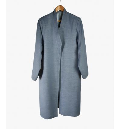 Bournous Harun gris bleuté